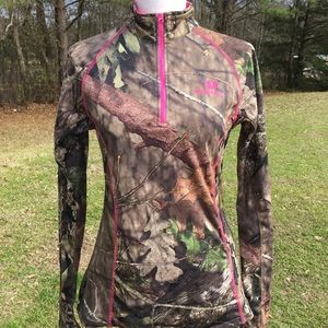 Women's Mossy Oak Zip-Up Jacket Sz Small